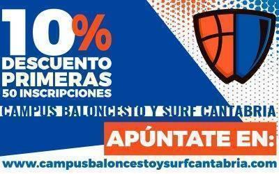 Apúntate al Campus Baloncesto y Surf Cantabria 2019