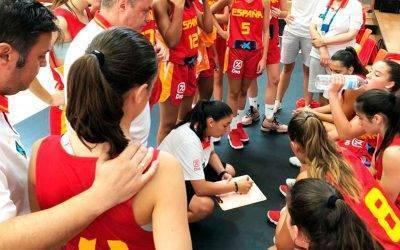 Nacary Rojas, con la Federación Española de Baloncesto